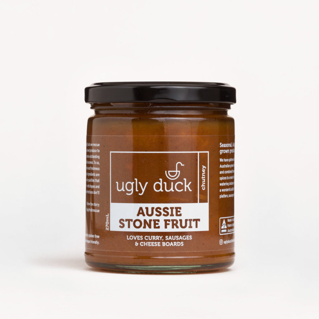 Aussie Stone Fruit Chutney jar with label