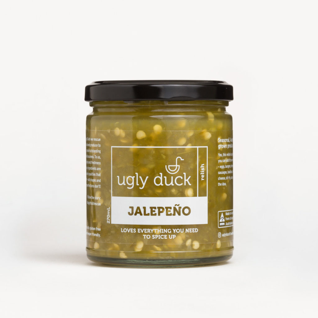 Jalapeno Relish jar with label
