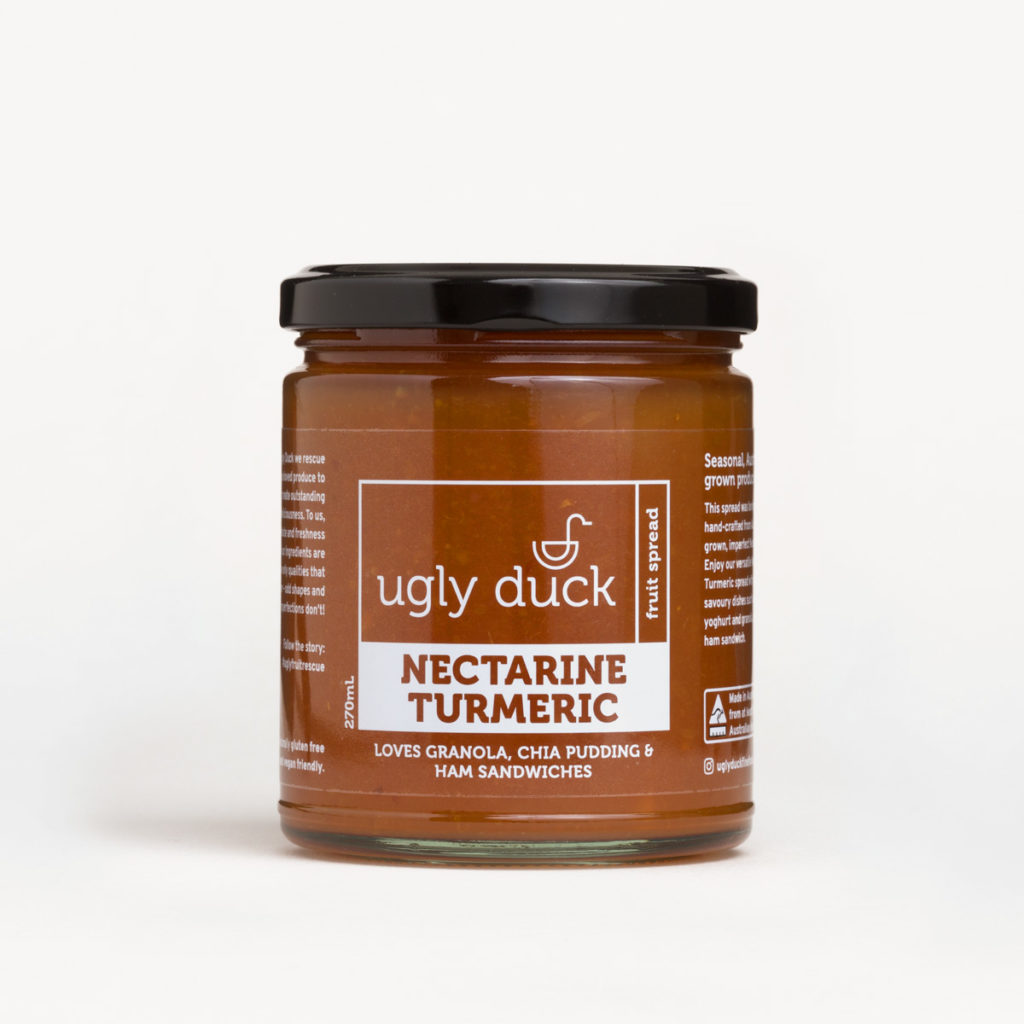 Nectarine Turmeric Spread jar with label