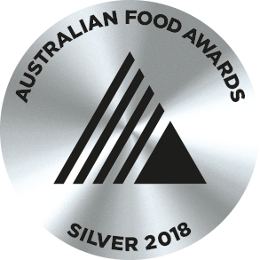 Silver Medal, 2018 Australian Food Awards